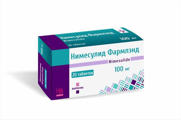 Нимесулид Фармлэнд 10 мг №20, таблетки | СП ООО Фармлэнд