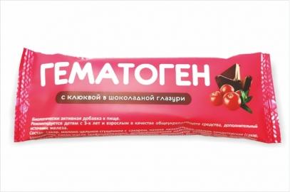 Гематоген с клюквой в шоколадной глазури
