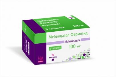 Мебендазол 100 мг №6, таблетки