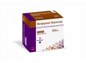 Метформин Фармлэнд 1000 мг №30, таблетки